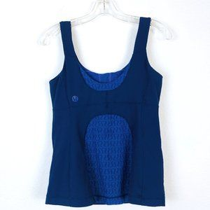 Lululemon Blue Top With Mesh - Size 6